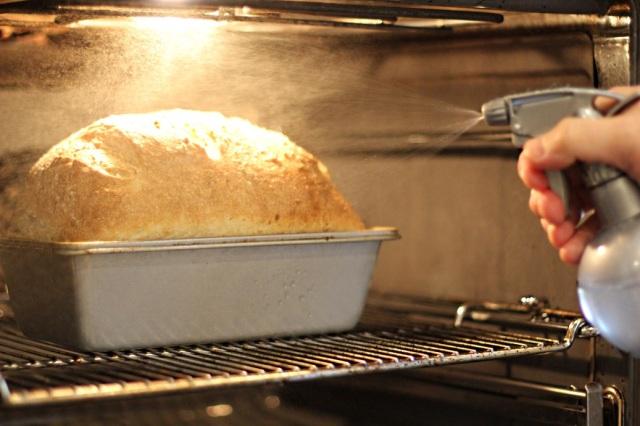 Add moisture during baking