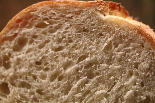 A decent crumb, not too tight, so butter can melt into it