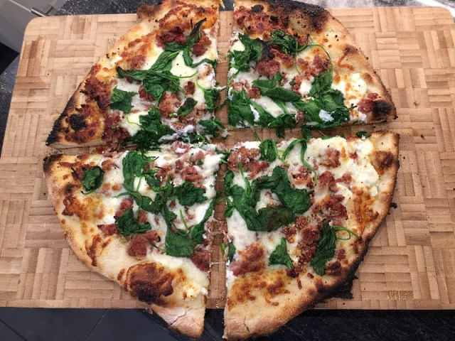 Pizza cut and ready to serve
