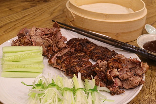 Crispy aromatic duck with all the trimmings