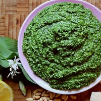 Wild Garlic Leaf Pesto Sauce
