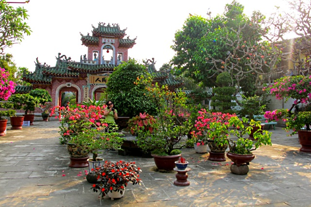 A temple and garden in Hoi An