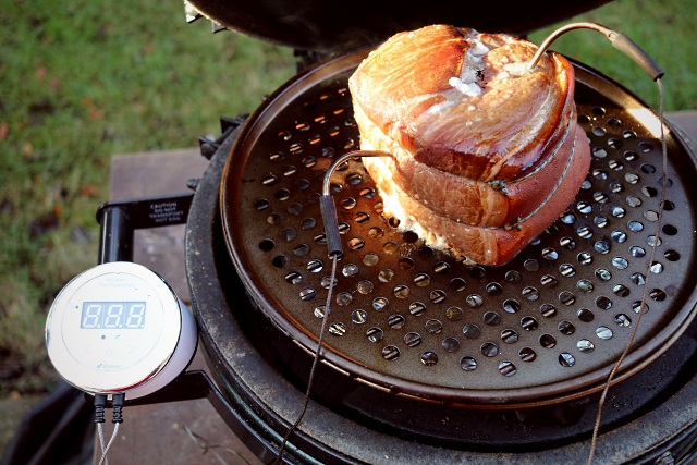 Cooking and smoking a gammon joint with a Kitchen Thermometer