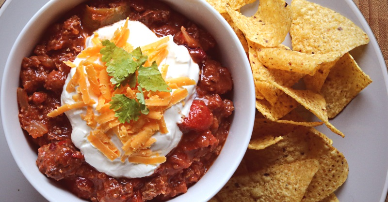 Over the top smoked chili