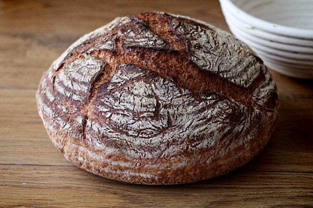 A crusty artisan loaf of bread