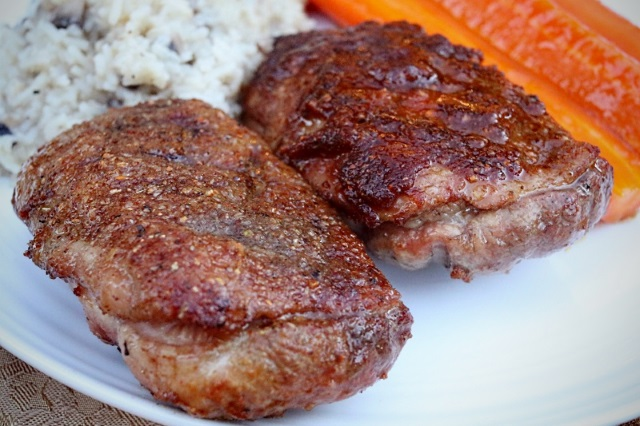 Duck breast with Dizzy Pig rub served two ways