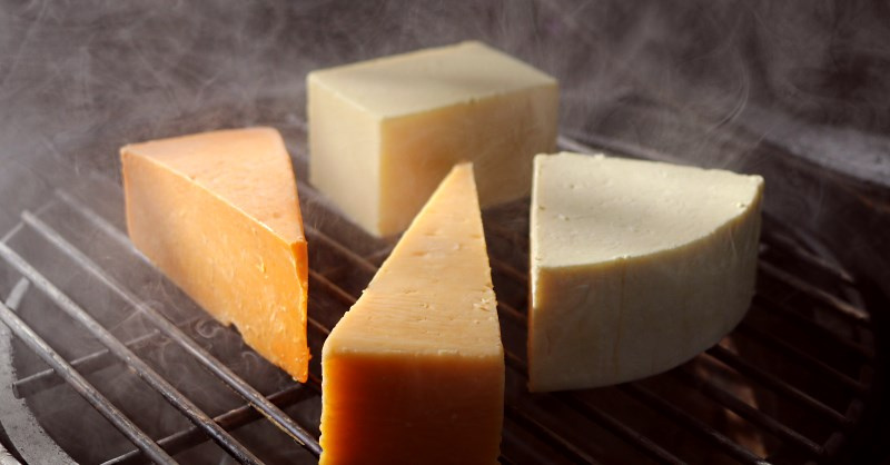 Cold smoking a selection of cheeses