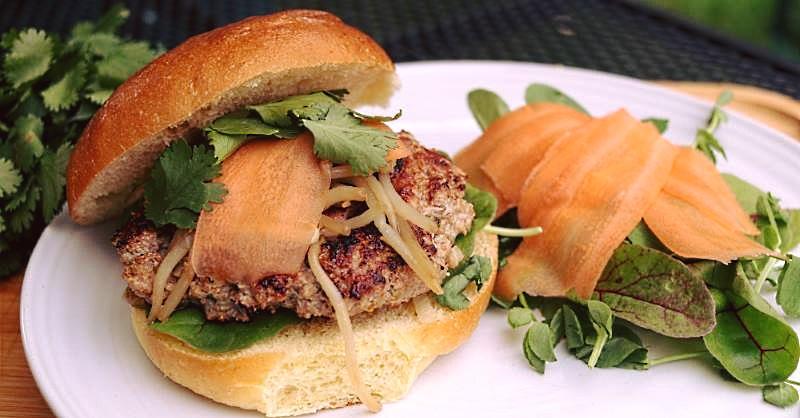 Vietnamese pork and lemongrass burger