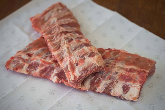 Baby back ribs (reproduced with permission from Turner and George)