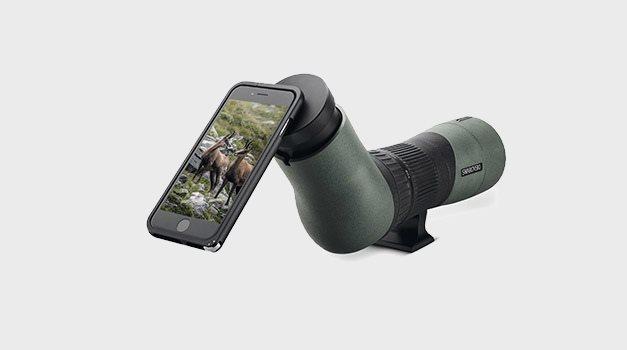 IPhone 6 attached to a Swarovski spotting scope (picture from Swarovski Optik)