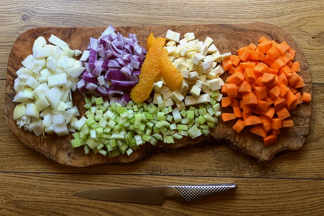 Ingredients chopped and ready