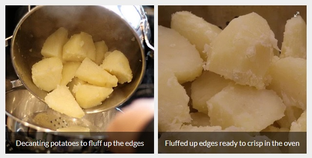 Decanting potatoes