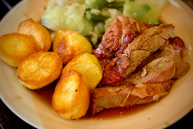 Ultra cripsy roast potatoes with lamb