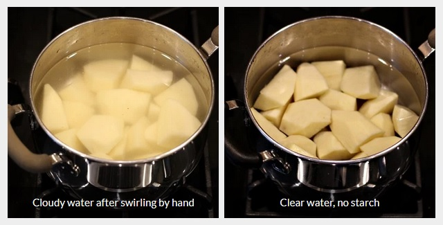 Cleaning starch