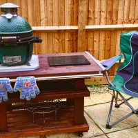Custom Built Big Green Egg Minimax Table