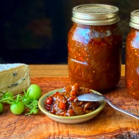 Green Tomato and Tamarind Chutney